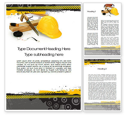 Construction Safety Word Template, 10435, Careers/Industry — PoweredTemplate.com