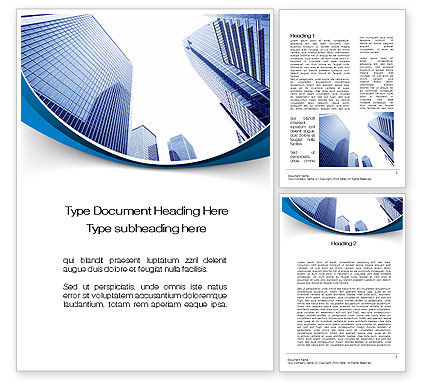 Construction: Business Prospects Word Template #10439