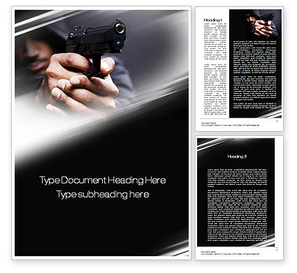 Gunman Word Template, 10442, Legal — PoweredTemplate.com