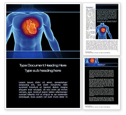 Heart Disease Word Template, 10449, Medical — PoweredTemplate.com