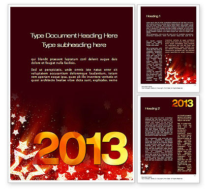 Holiday/Special Occasion: 2013 Word Template #10450