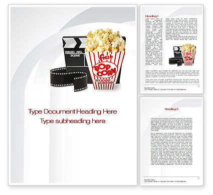 Careers/Industry: Film Entertainment Word Template #10454
