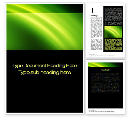 Abstract/Textures: Green Arc Word Template #10460
