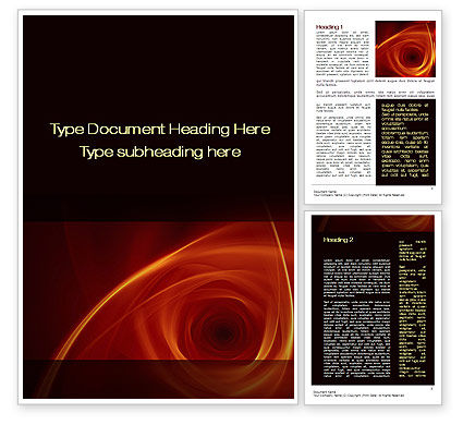 Abstract/Textures: Red Whirlpool Word Template #10469