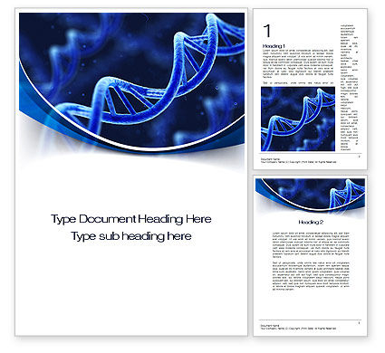 3D DNA Word Template, 10471, Technology, Science & Computers — PoweredTemplate.com