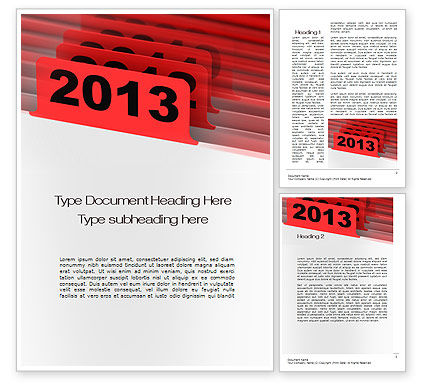 2013 Year's Plan Word Template, 10473, Business Concepts — PoweredTemplate.com