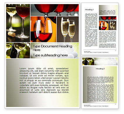 Aperitif Word Template, 10478, Food & Beverage — PoweredTemplate.com