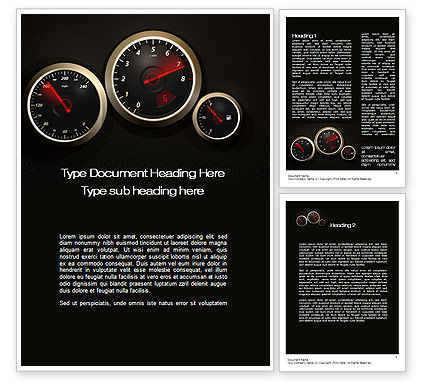 Car Dashboard Word Template, 10486, Cars/Transportation — PoweredTemplate.com