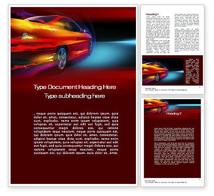Cars/Transportation: Fast and Furious Word Template #10492