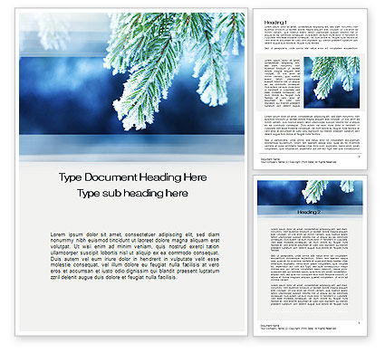 Nature & Environment: Winter Word Template #10493
