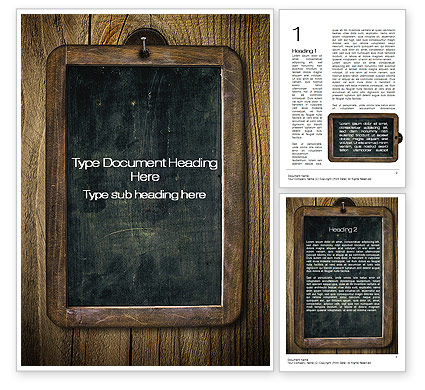 Chalkboard Word Template, 10495, General — PoweredTemplate.com
