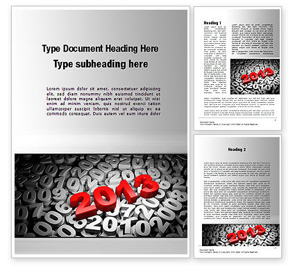 2013 and Other Years Word Template, 10496, 3D — PoweredTemplate.com