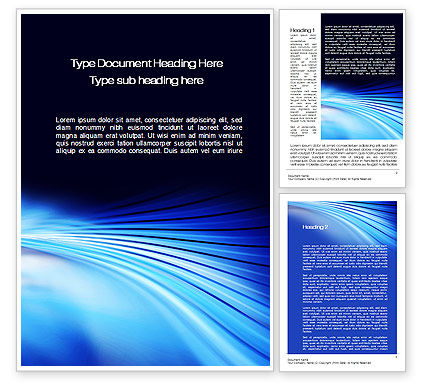 Abstract/Textures: Stretched Blue Lines Word Template #10497
