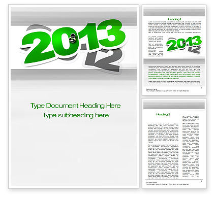 Year Change Word Template, 10500, Holiday/Special Occasion — PoweredTemplate.com