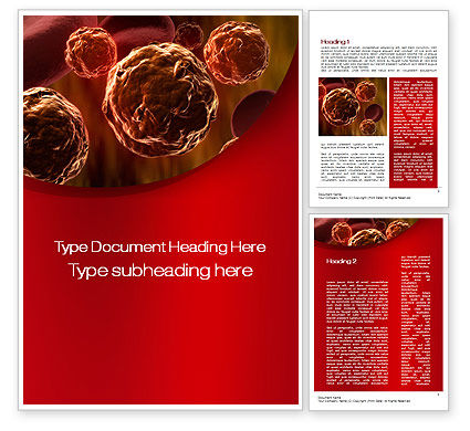 Medical: Inside the Circulatory System Word Template #10509