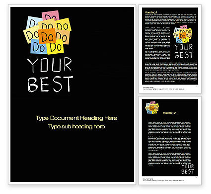 Do Your Best Word Template, 10512, Education & Training — PoweredTemplate.com