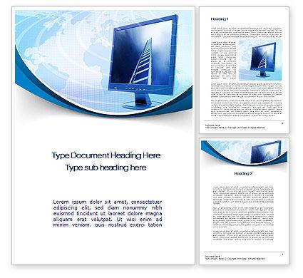 IT Career Word Template, 10514, Careers/Industry — PoweredTemplate.com