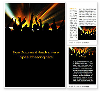 Careers/Industry: Concert Crowd Word Template #10515