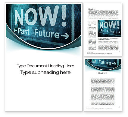 Focusing on Now Word Template