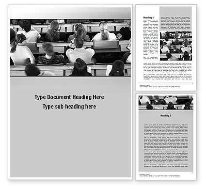 Education & Training: Lecture Word Template #10535