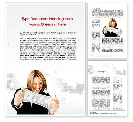 Happy Winner Word Template, 10540, Financial/Accounting — PoweredTemplate.com