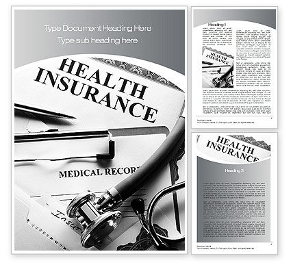 Health Care Insurance Word Template, 10542, Financial/Accounting — PoweredTemplate.com