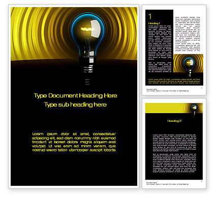 Incandescent Lighting Word Template, 10545, Business Concepts — PoweredTemplate.com