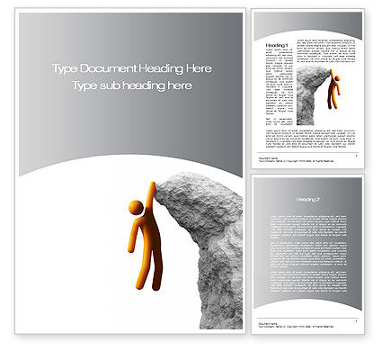 Over the Abyss Word Template, 10549, Consulting — PoweredTemplate.com