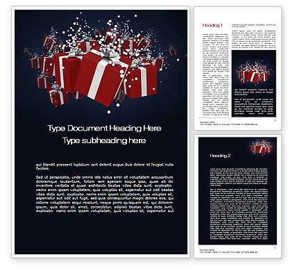 Gift Boxes Word Template, 10554, Holiday/Special Occasion — PoweredTemplate.com