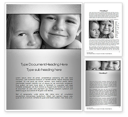 People: Brother Sister Love Word Template #10555