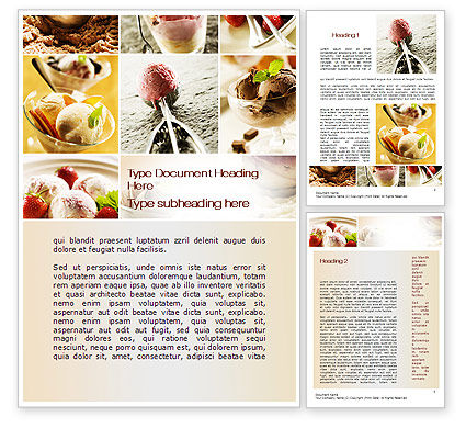 Refreshing and Yummy Word Template, 10557, Food & Beverage — PoweredTemplate.com