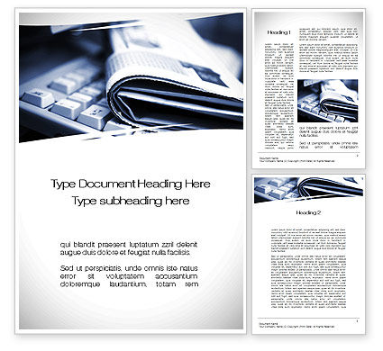 News and Media Word Template, 10559, Careers/Industry — PoweredTemplate.com