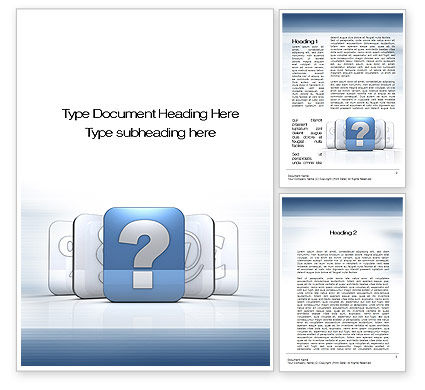 Question Icon Word Template, 10561, Education & Training — PoweredTemplate.com