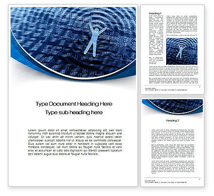 The Sea of Information Word Template, 10569, Technology, Science & Computers — PoweredTemplate.com