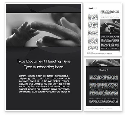 Religious/Spiritual: Touching Word Template #10570