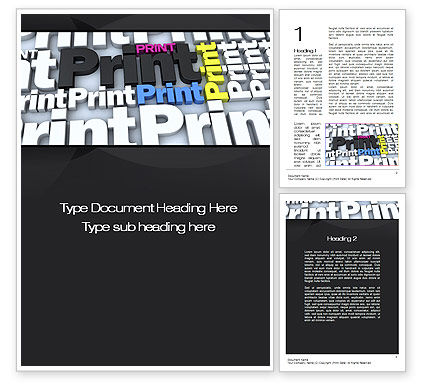 Print Word Template, 10574, Careers/Industry — PoweredTemplate.com