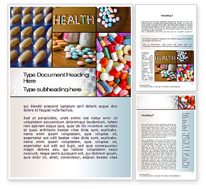 Clinical Pharmacology Word Template, 10578, Medical — PoweredTemplate.com
