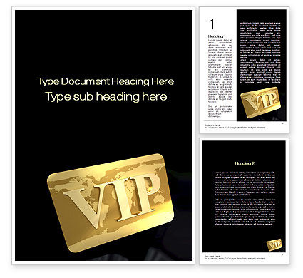 VIP Card Word Template#1