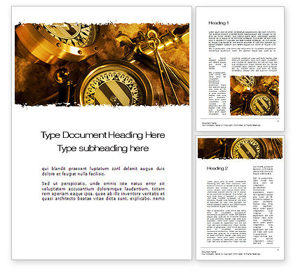 Business Concepts: Business Navigation Word Template #10593