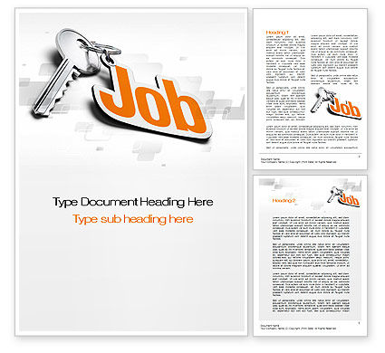 Careers/Industry: Job Key Word Template #10607