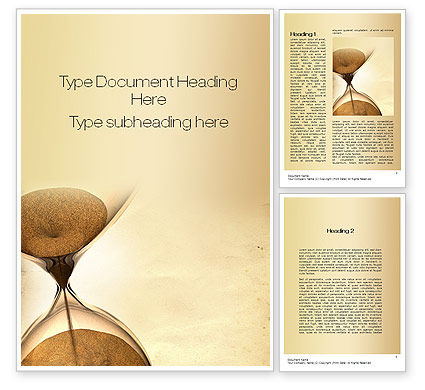 Consulting: Time is Up Word Template #10608