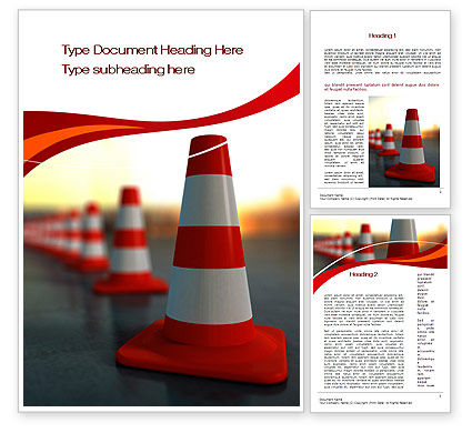 Traffic Pylons Word Template, 10610, Careers/Industry — PoweredTemplate.com