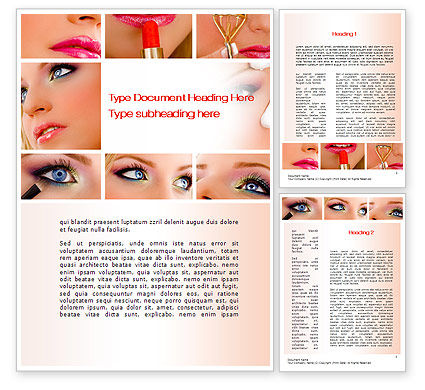 Careers/Industry: Makeup Word Template #10614