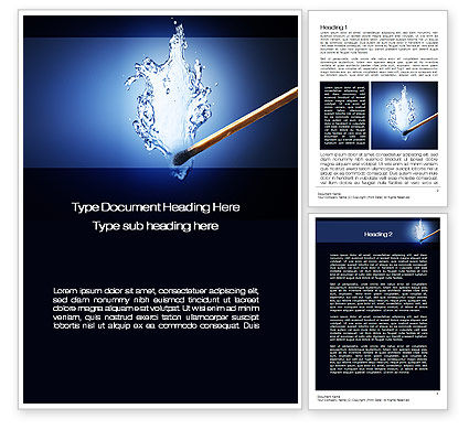 Water Match Word Template, 10615, Business Concepts — PoweredTemplate.com