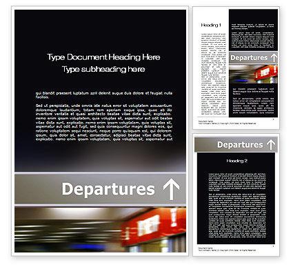 Departures Word Template, 10619, Cars/Transportation — PoweredTemplate.com