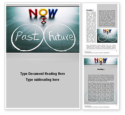 Crossroads of Time Word Template, 10621, Business Concepts — PoweredTemplate.com