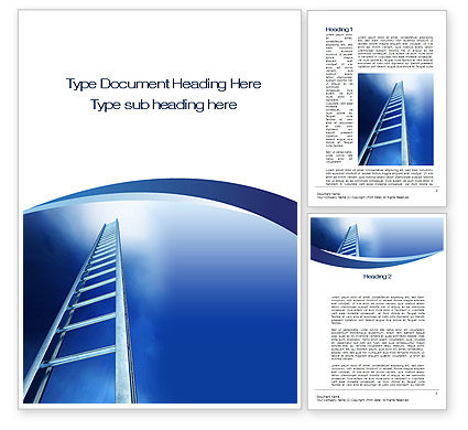 Career Ladder Word Template, 10632, Careers/Industry — PoweredTemplate.com