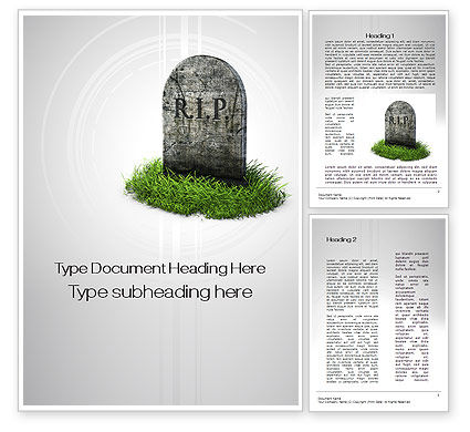 RIP Word Template, 10637, Careers/Industry — PoweredTemplate.com