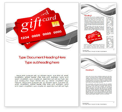 Gift Card Word Template, 10641, Careers/Industry — PoweredTemplate.com