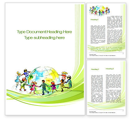 Education & Training: Dance Around the World Word Template #10654